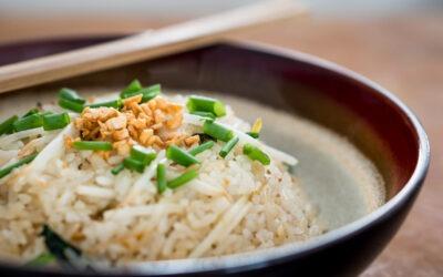 Garlic Fried Rice with Thai Basil