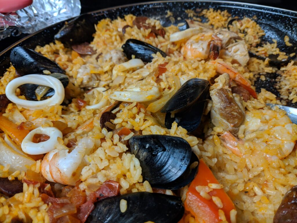 Paella from Valencia, Spain